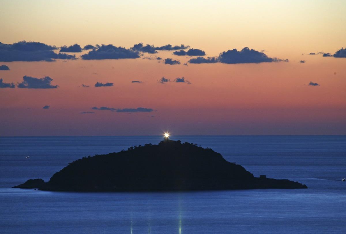 Tramonto isola Cinque Terre La Spezia Liguria