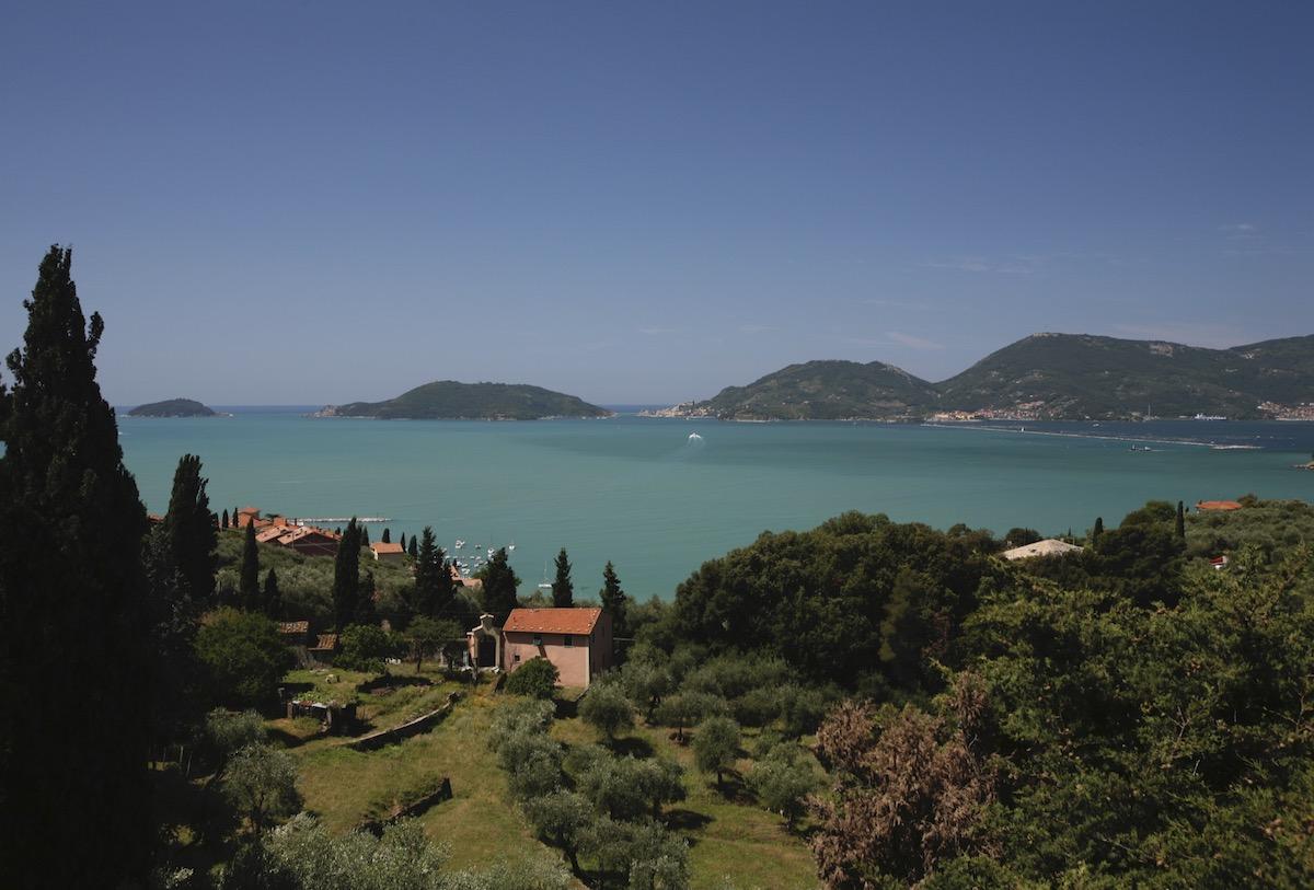 Paesaggio veduta Golfo dei Poeti La Spezia Cinque Terre Liguria