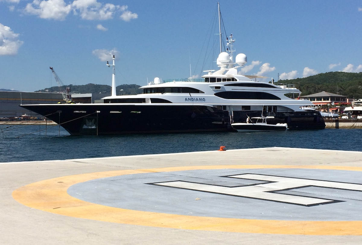 Superyachts find their perfect docking at Porto Lotti in Italy La Spezia